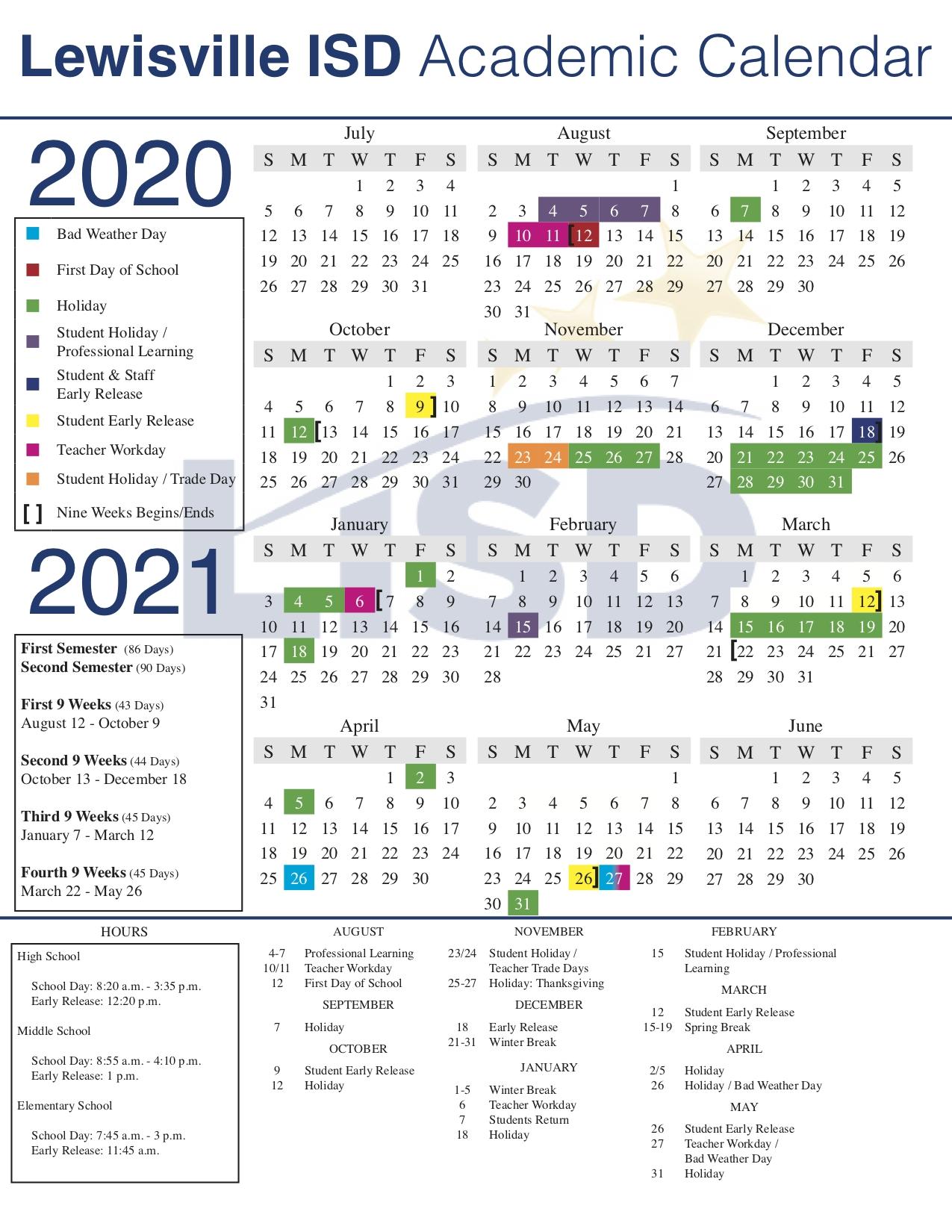 Leap Year Julian Calendar | Printable Calendar 2020-2021
