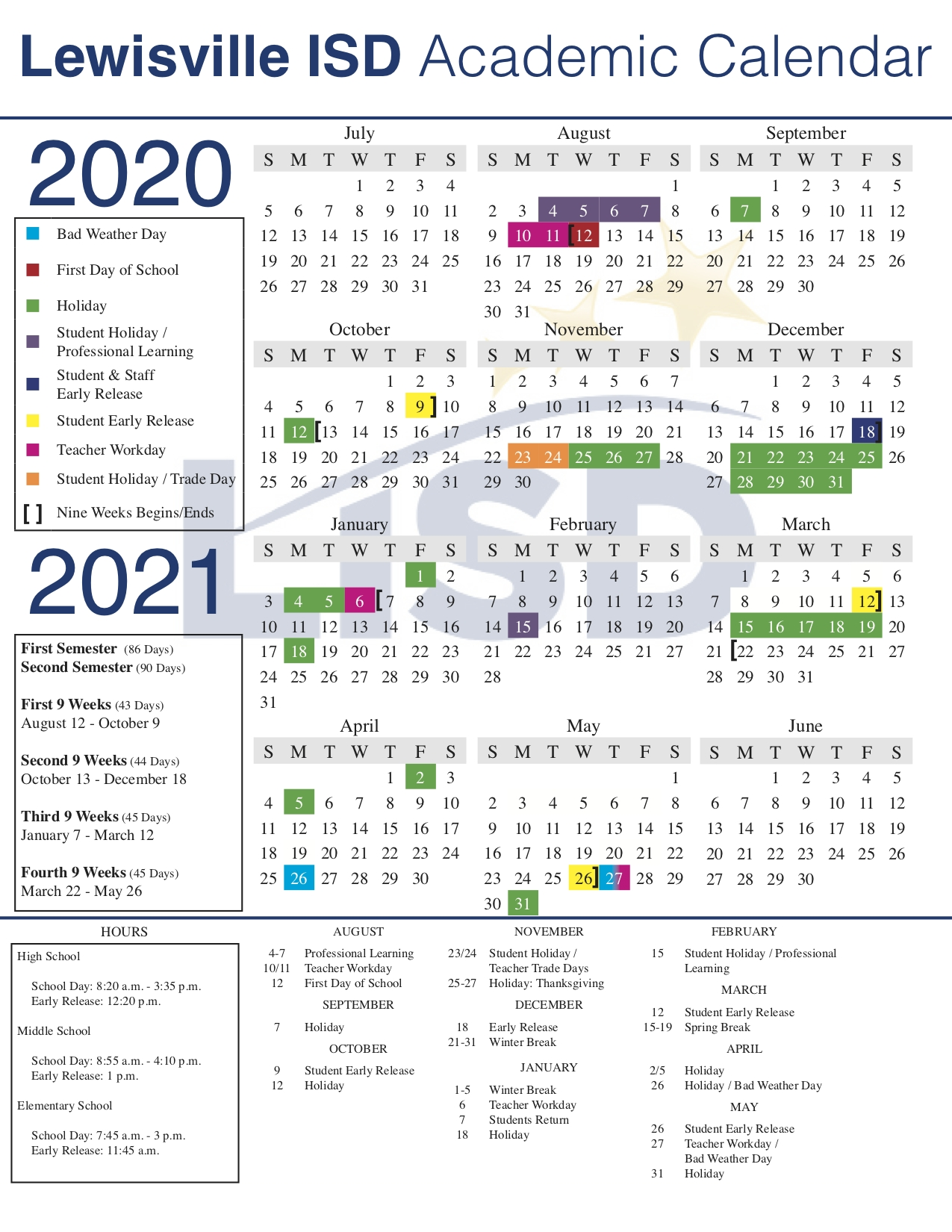 Leap Year Julian Calendar | Printable Calendar 2020-2021