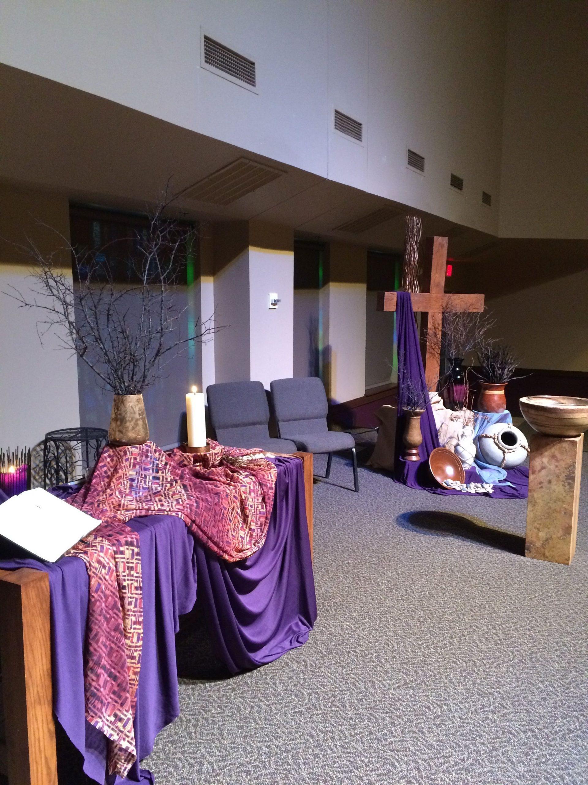 Lent 2015, Grace Avenue Umc - Worship Center   Altar
