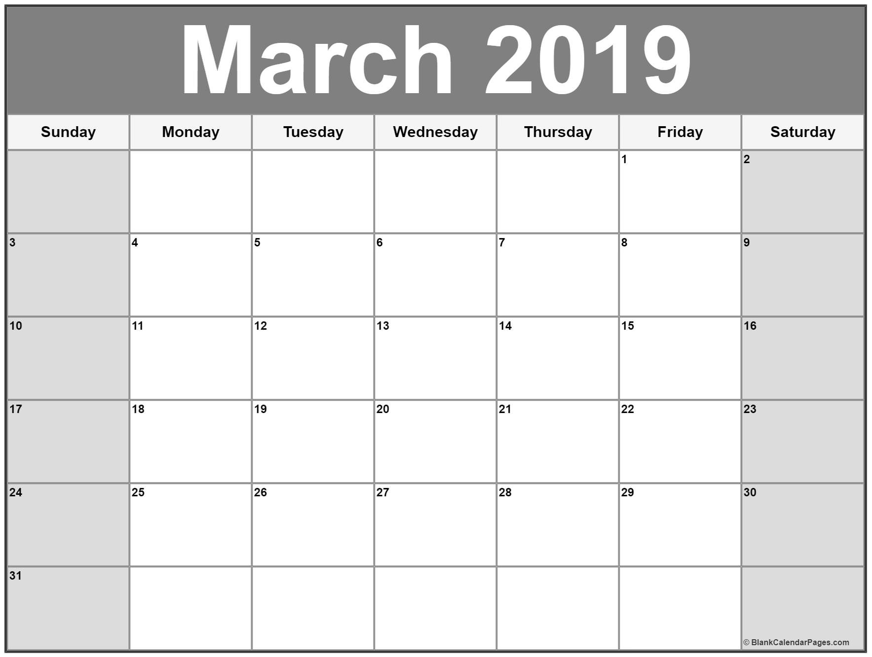 March 2019 Calendar | 51+ Calendar Templates Of 2019 Calendars