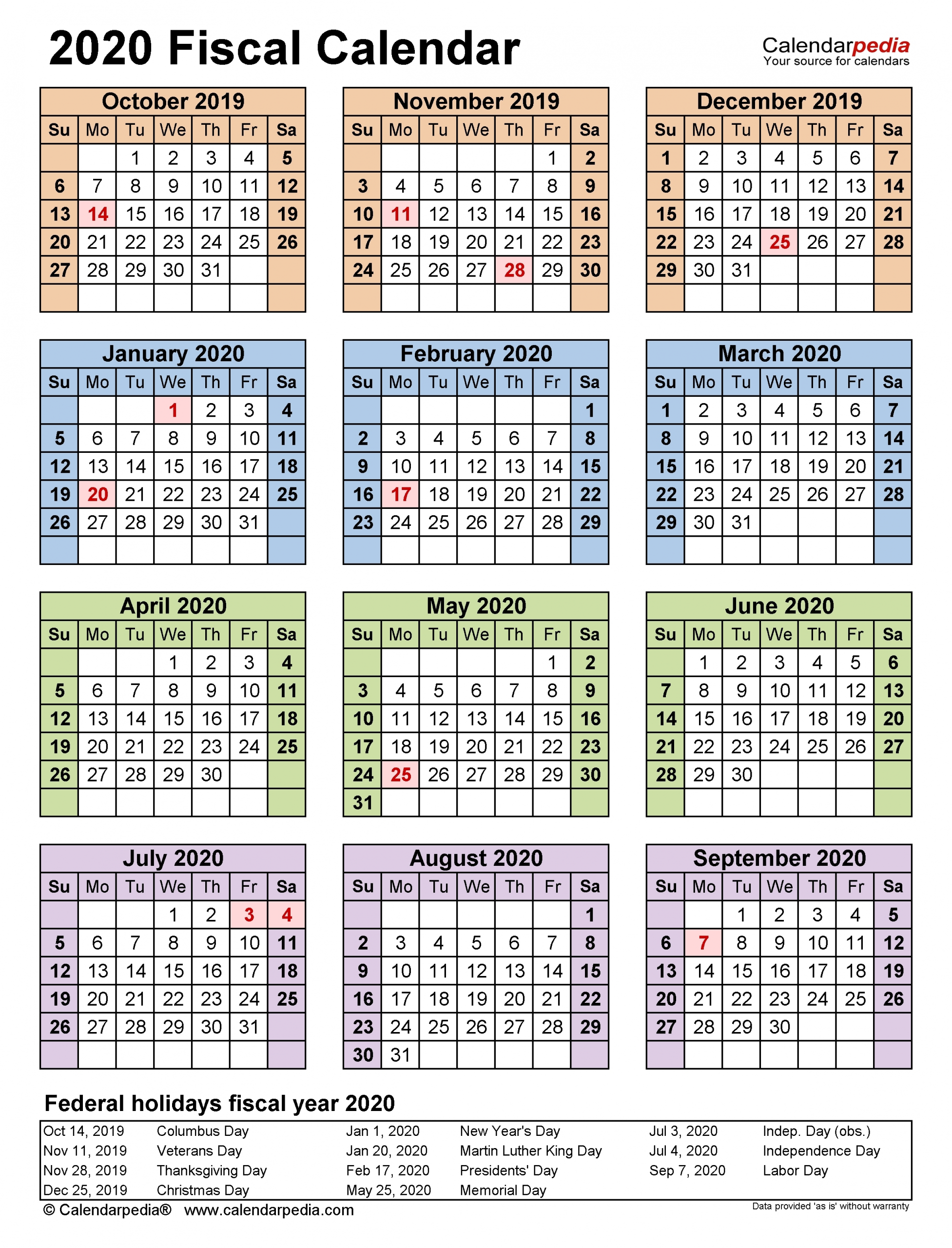 May 2020 – Template Calendar Design