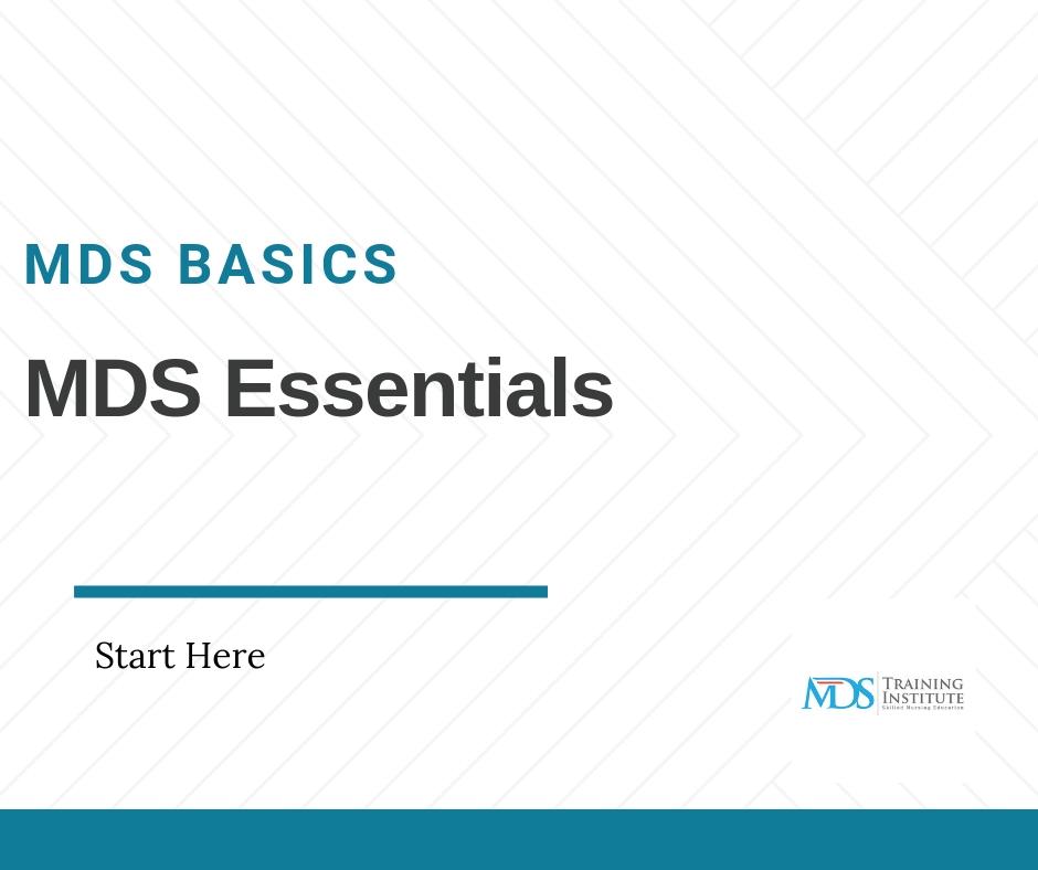 Mds 3.0 Training Programs - Mds Training Institute