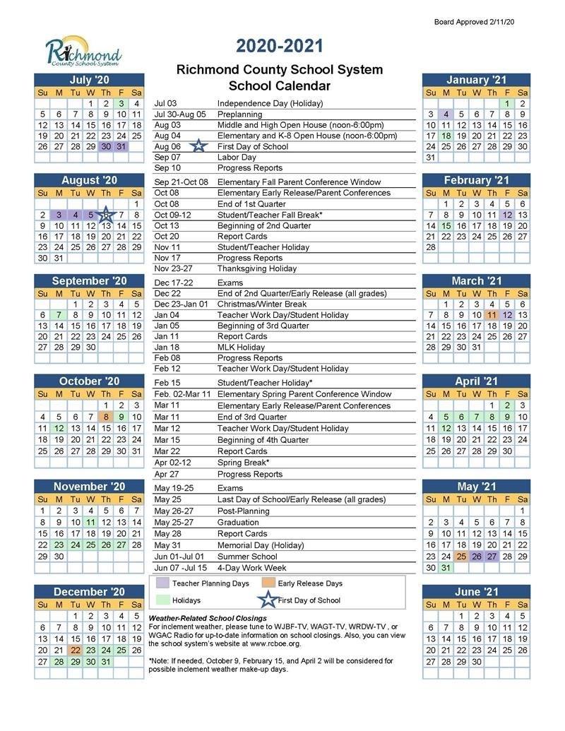 Media Center / 2020-2021 School Calendar