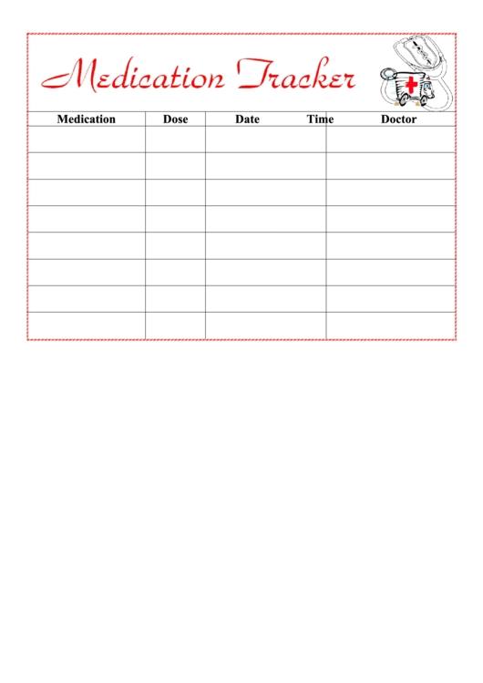 Medication Tracker Printable Pdf Download