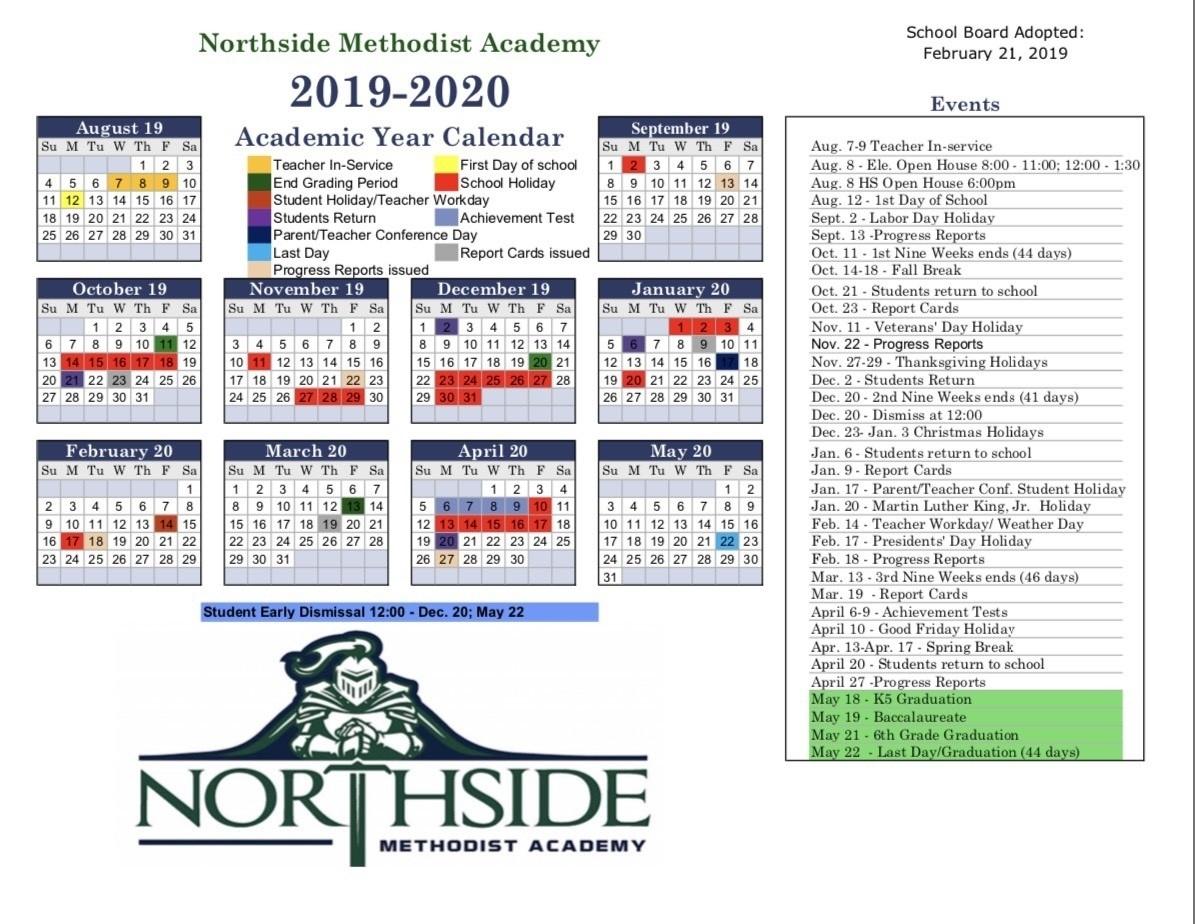 Methodist Church Liturgical Calendar 2020 – Template