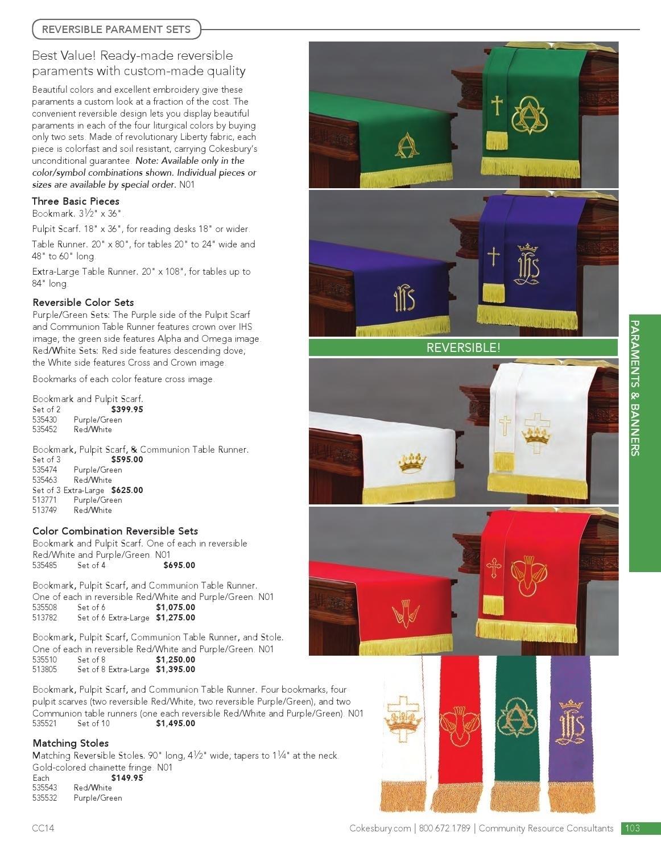 Methodist Church Parament Colors | Calendar Template 2020