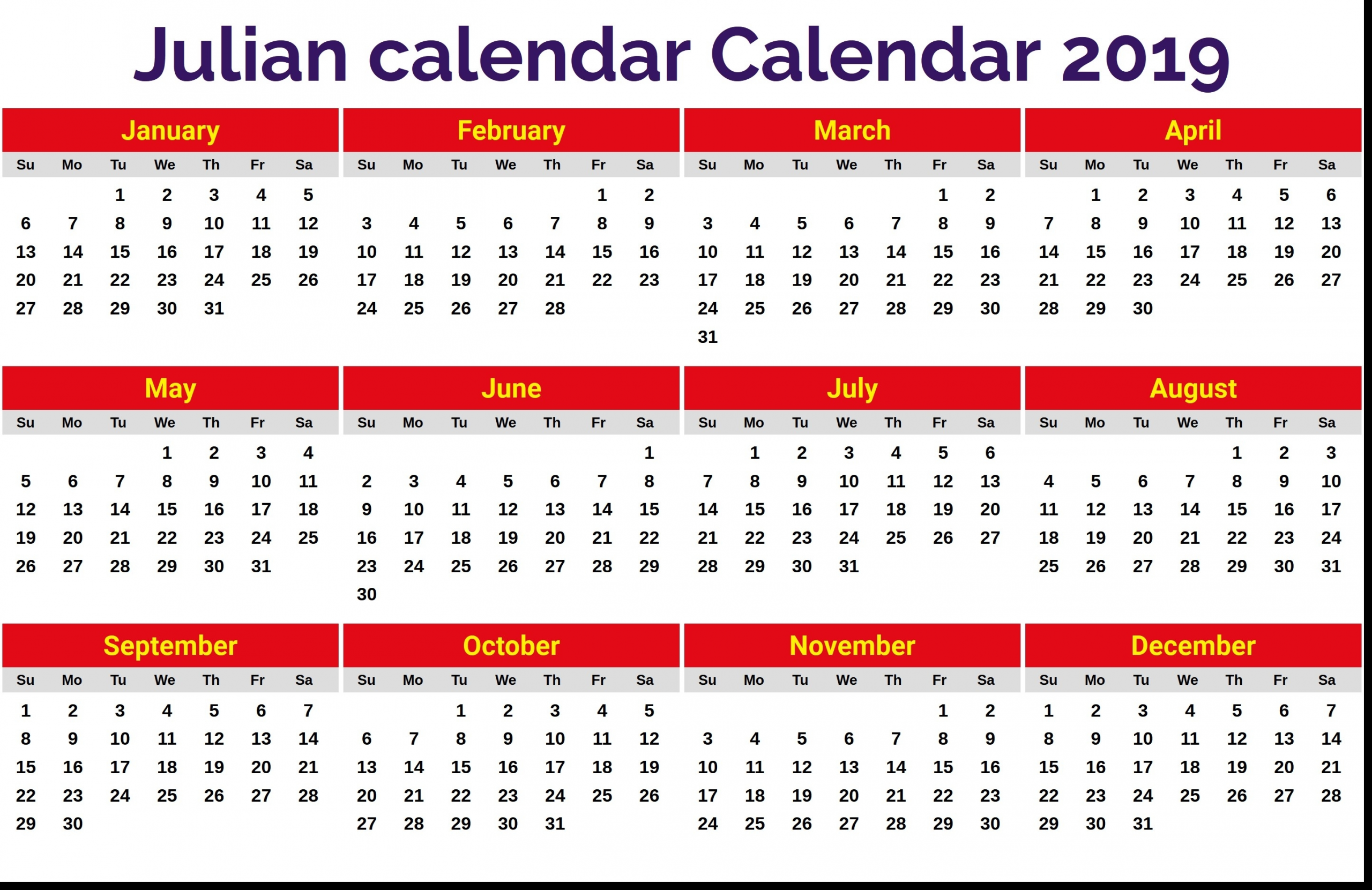 Monthly Calendar With Julian Dates 2020 | Example Calendar