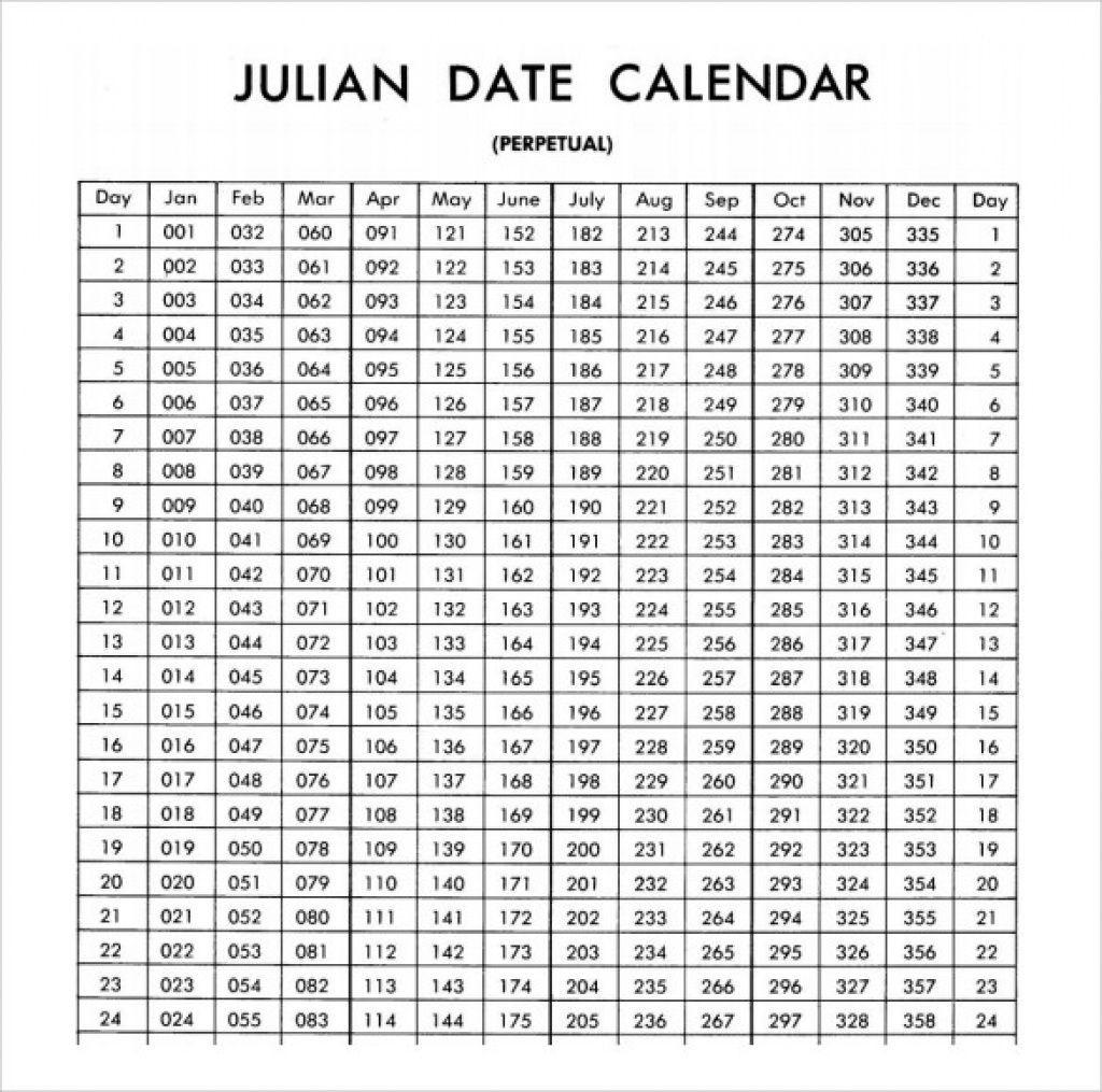 Monthly Calendar With Julian Dates | Calendar Template