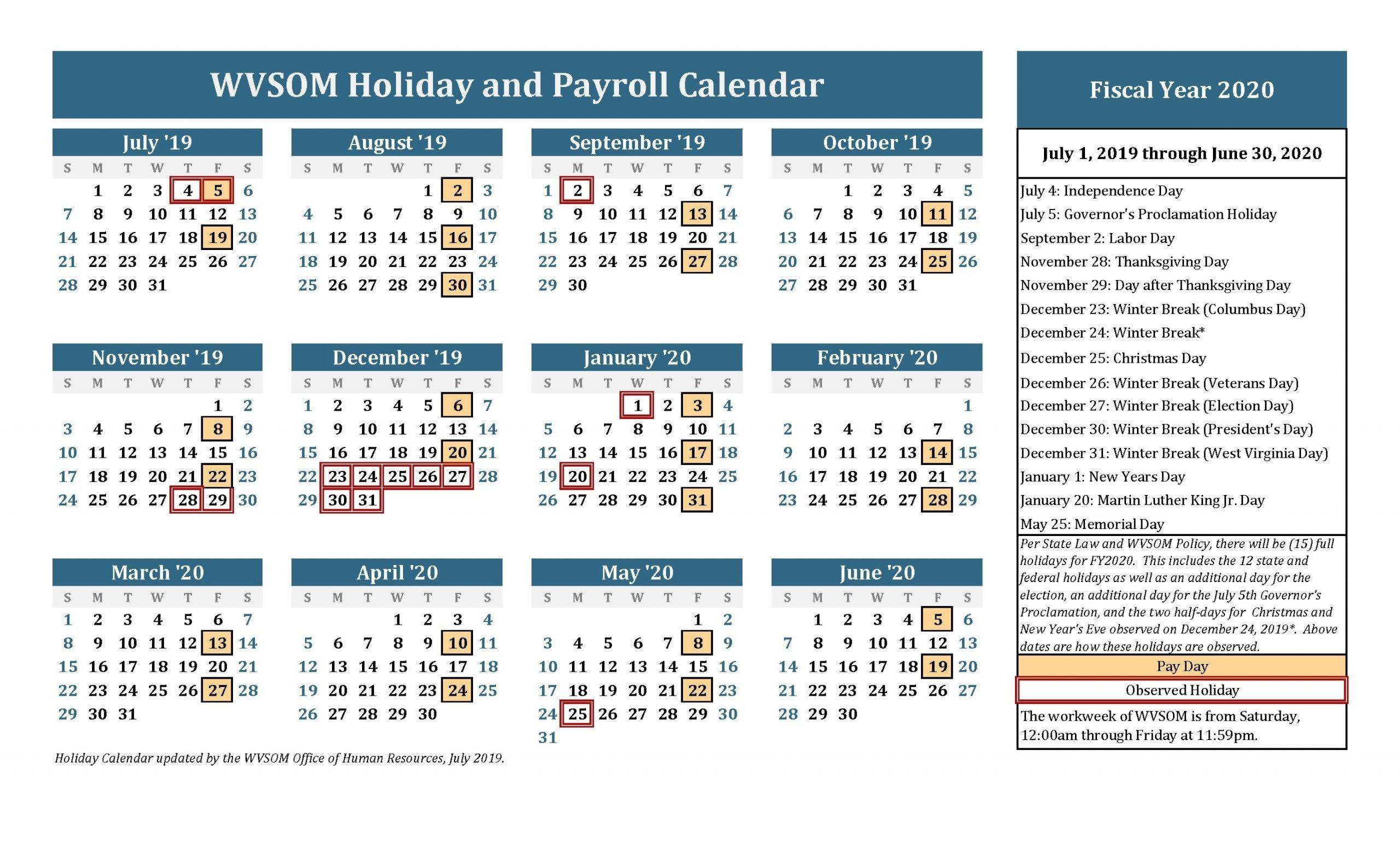 Monthly Health Awareness Calendar 2020 | Calendar Template