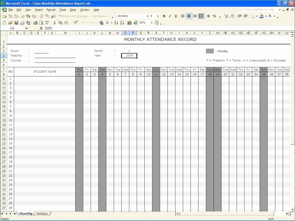 Monthly On Call Schedule Template