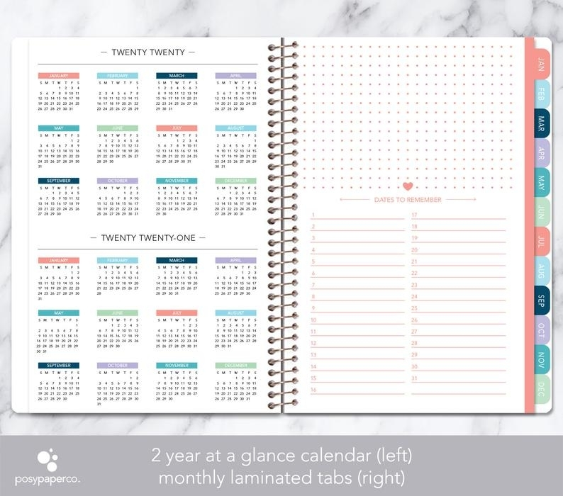 Monthly Planner 2020 2021 No Weekly View Choose Your Start