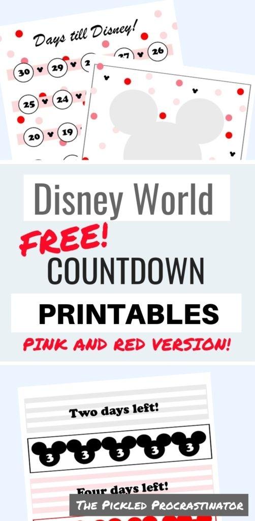 More Free Disney Countdown Printables | Disney Countdown