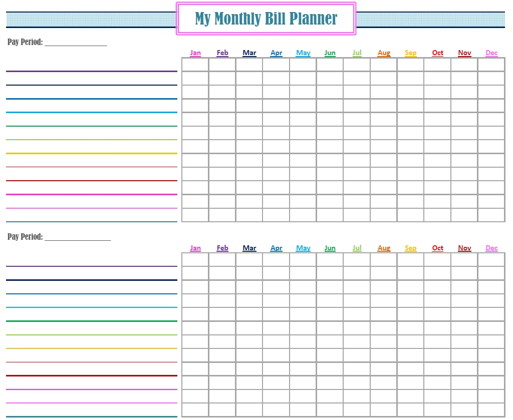 New Monthly Bill Planner