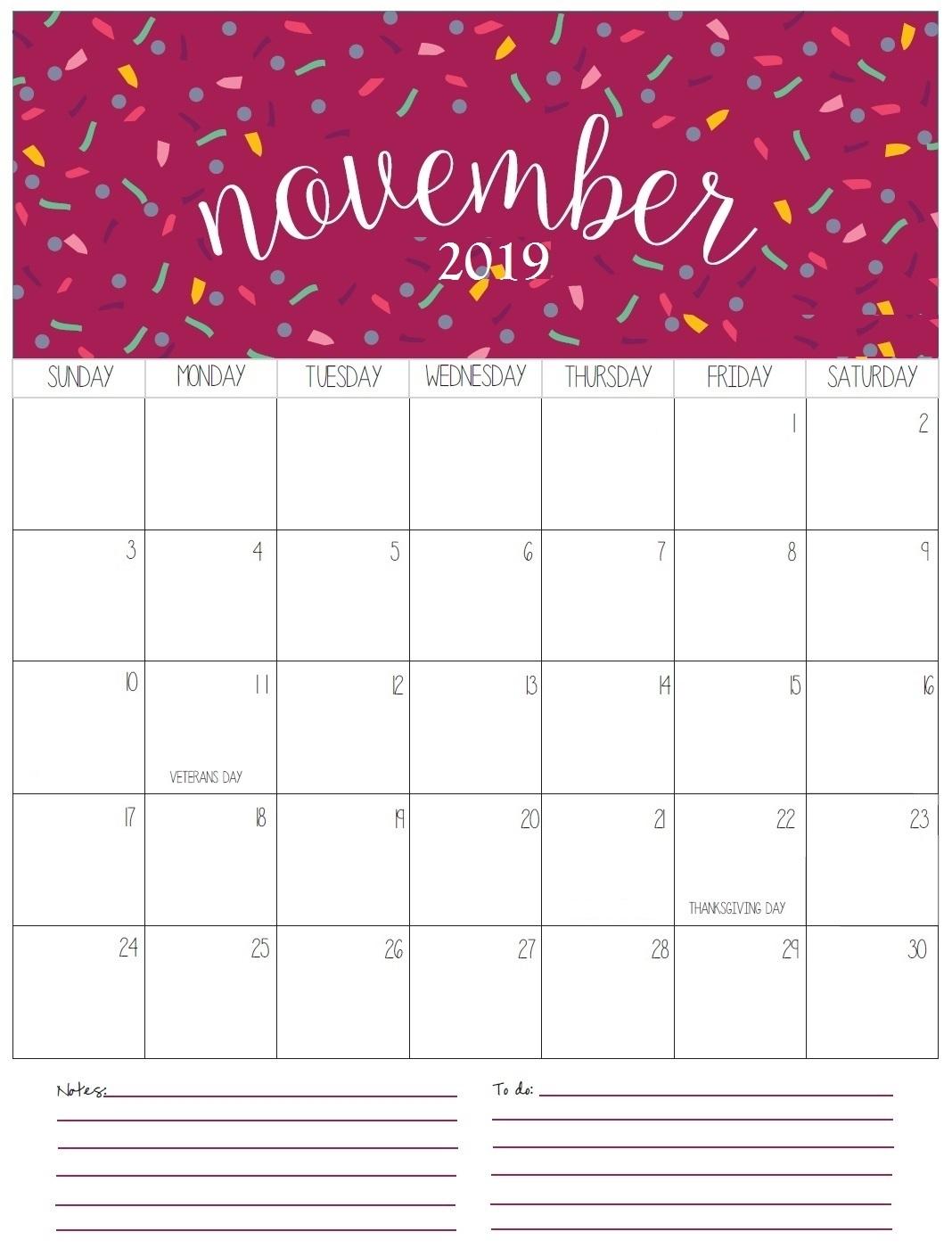 November 2019 Calendar To Print Pdf File Download