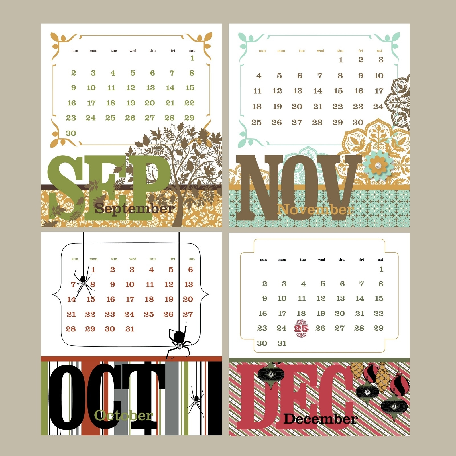 Nutmeg Creations: Calendars - Mds Blog Hop Week 14