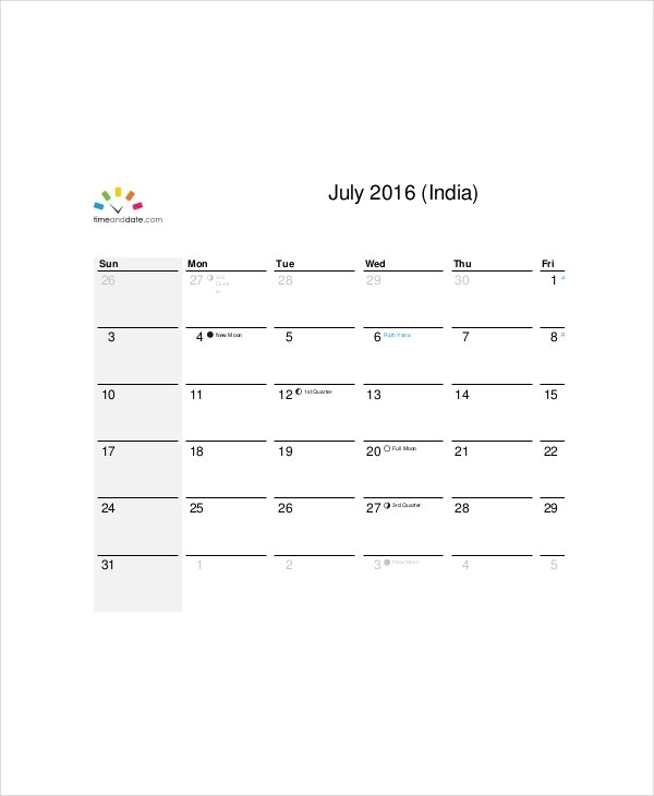 Office Calendar Template - 7+ Free Word, Pdf Documents