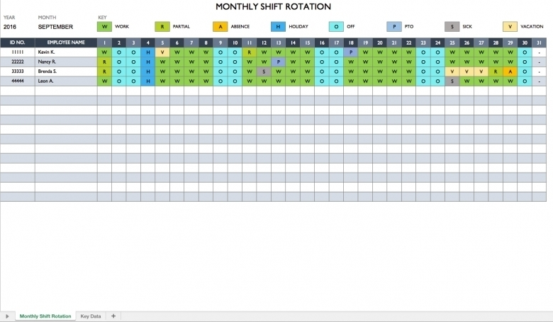 On Call Calendar Rotation Template :-Free Calendar Template