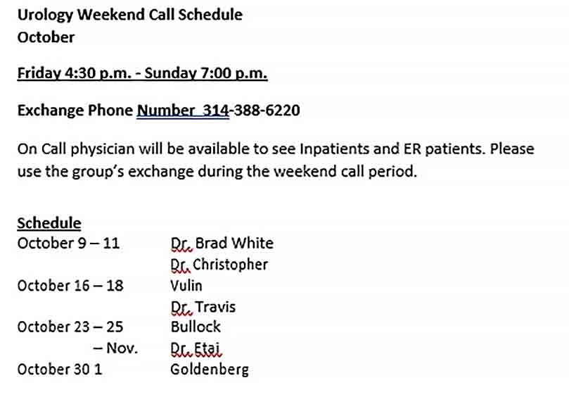 On-Call Schedule Template | Culturopedia