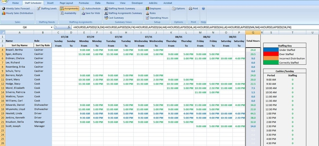 On Call Schedule Template Excel – Printable Schedule Template