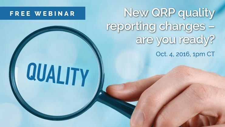 [On-Demand Webinar] New Qrp Quality Reporting Changes