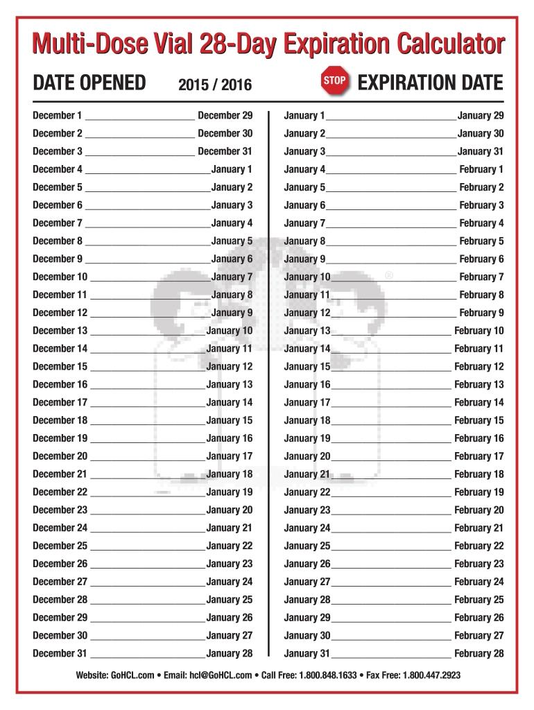 Online Day Counter Calendar 2020 – Calendar Template 2020