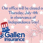 Fourth Of July Closure Notice