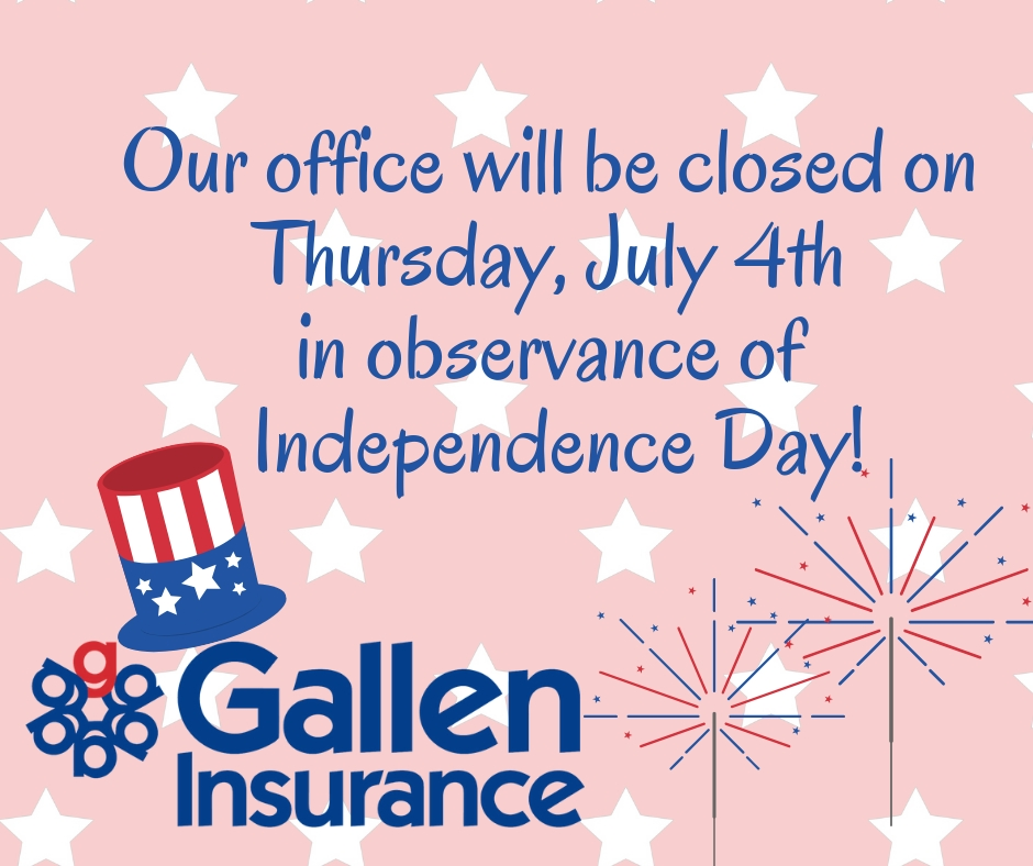 Our Office Will Be Closed On Thursday, July 4Th In