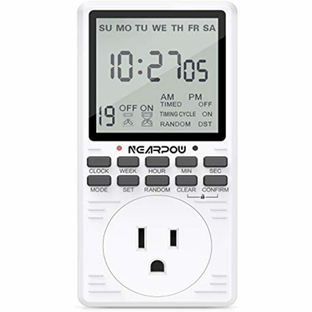Outlet Timer, Multifunctional Programmable With Countdown