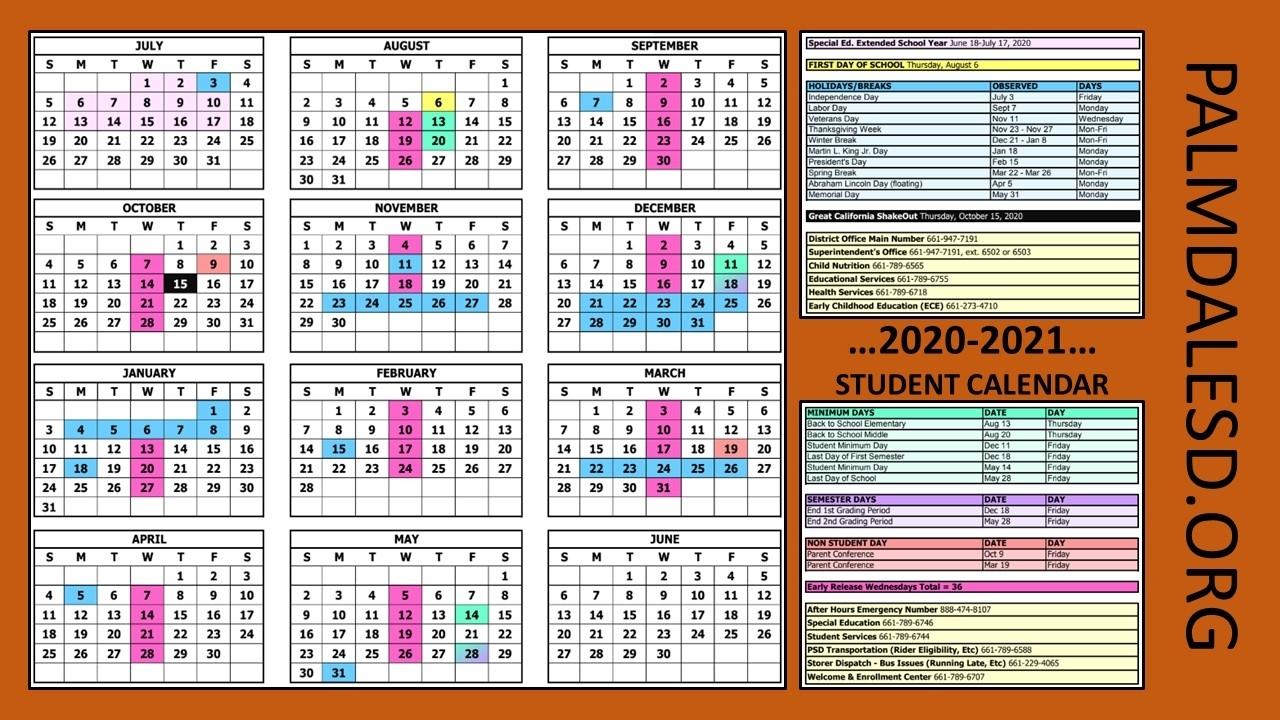 Palmdale School District / Calendar