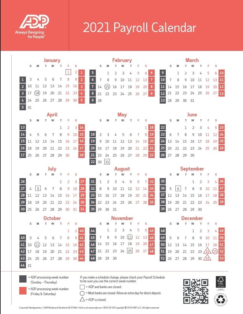 Payroll Calendar 2021 Ahs | Payroll Calendar 2021