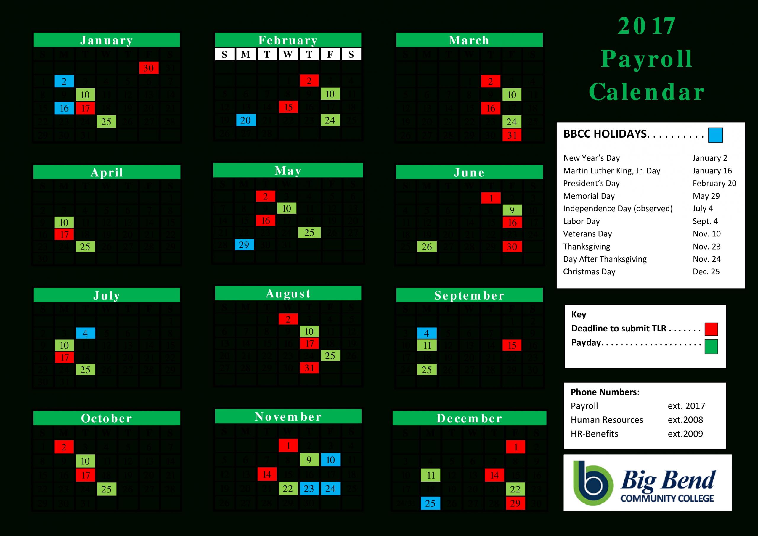 Payroll Calendar Download – Payroll Calendar 2021