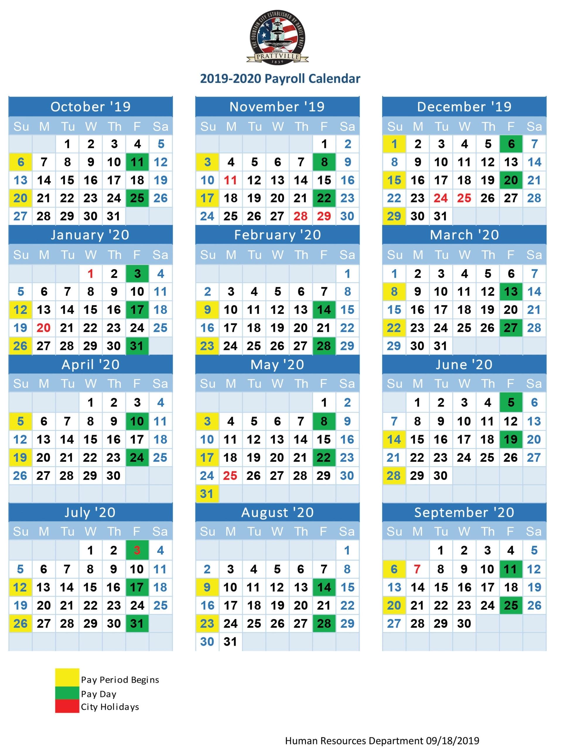 Payroll Calendar Government – Payroll Calendar 2021