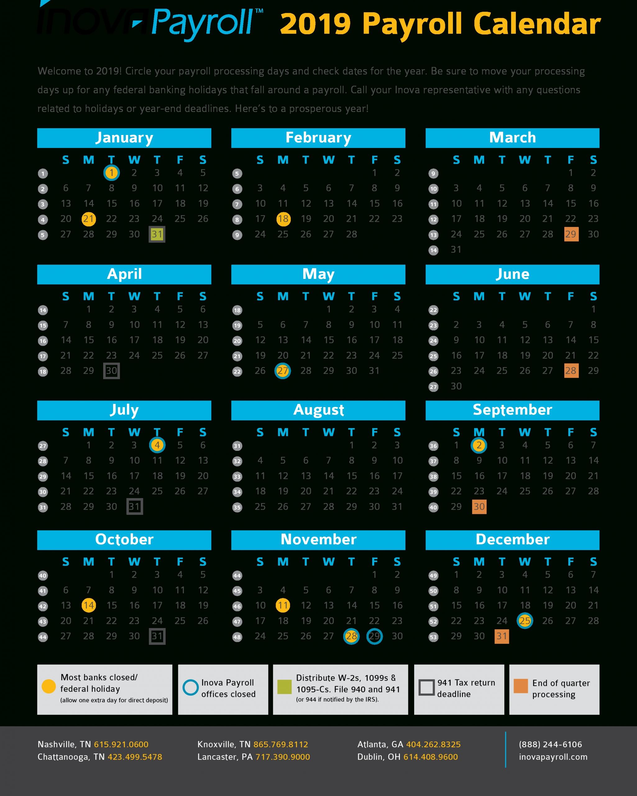 Payroll Calendar Irs | Payroll Calendar 2021