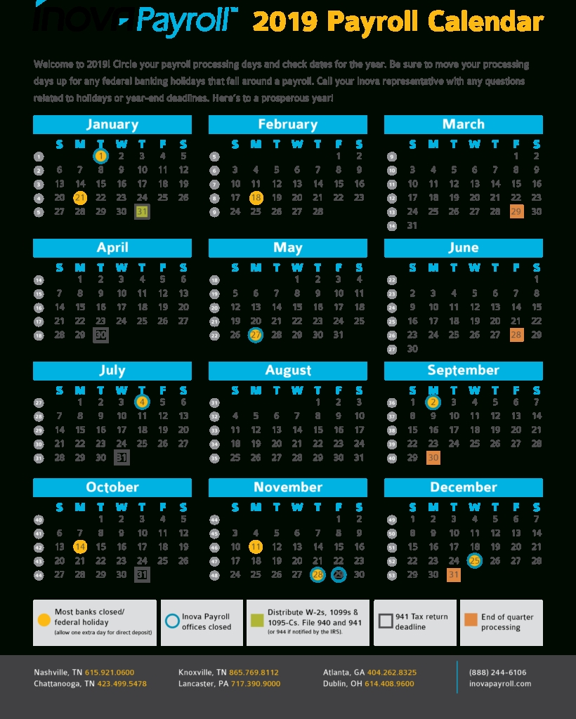 Payroll Calendar – Payroll Calendar 2021