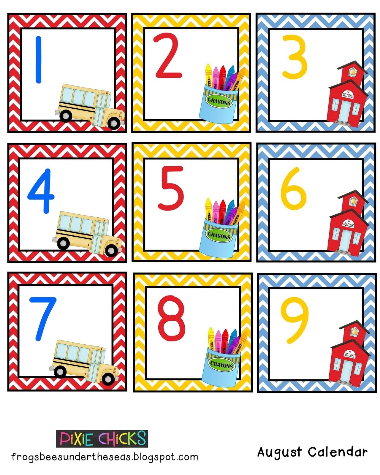 Pixie Chicks: August Calendar Set