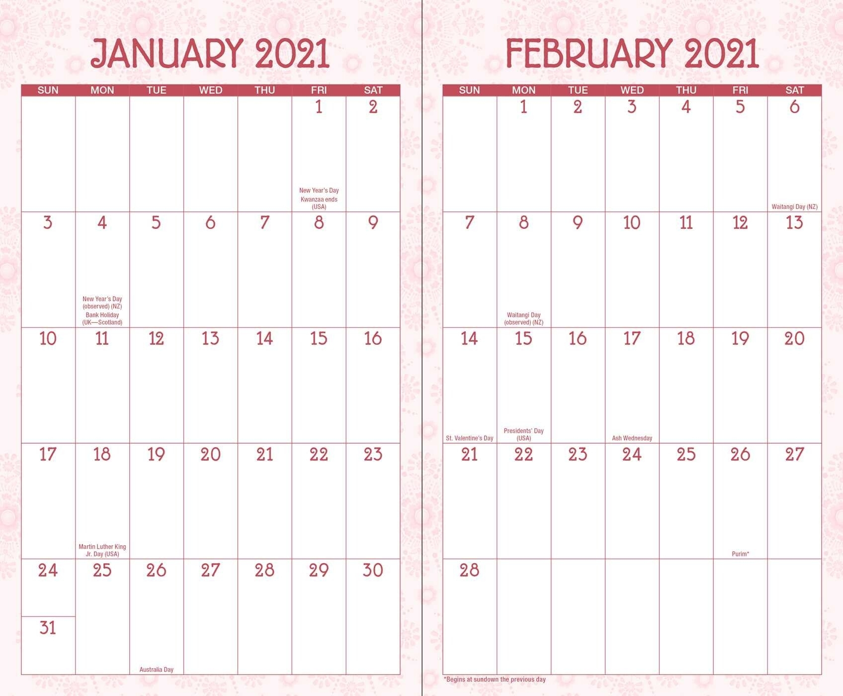 Posh: Floral Abundance 2020-2021 Monthly/Weekly Planning