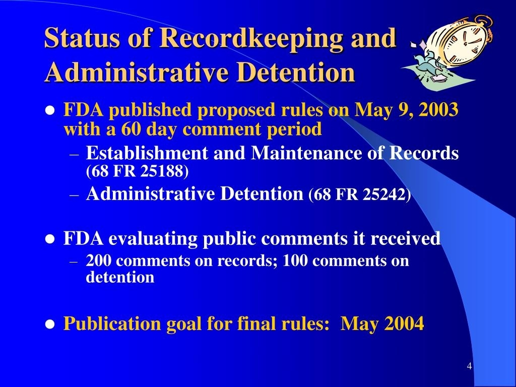 Ppt - New Fda Rules Implementing The Bioterrorism Act Of