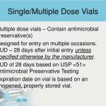 Fda Rule On 28 Day Expiration Dating For Multi-Use Vials