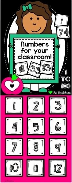 Printable Calendar Numbers For Classroom | Printable