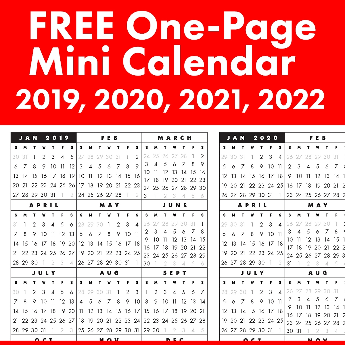 Printable Calendar Or 2020 And 2021 Monday To Sunday