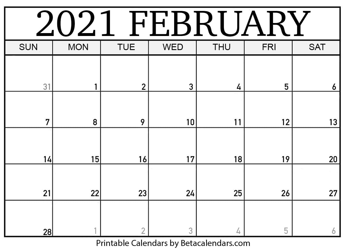 Leap Year Julian Calendar 2021 | Printable Calendar ...