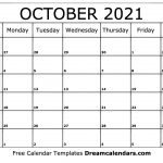 Printable Calendar 2021 With Times