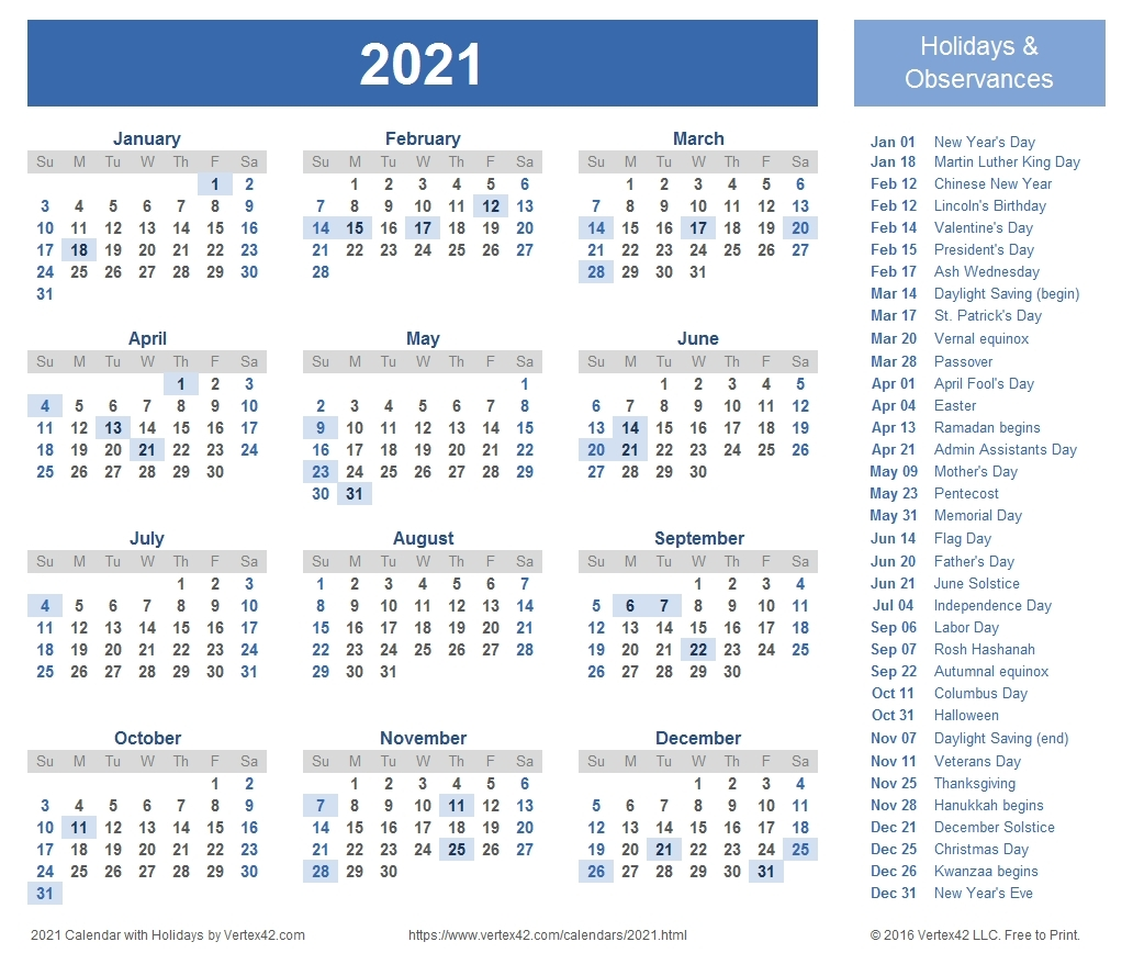 Printable Weekly Calendar 2021 Free | Avnitasoni