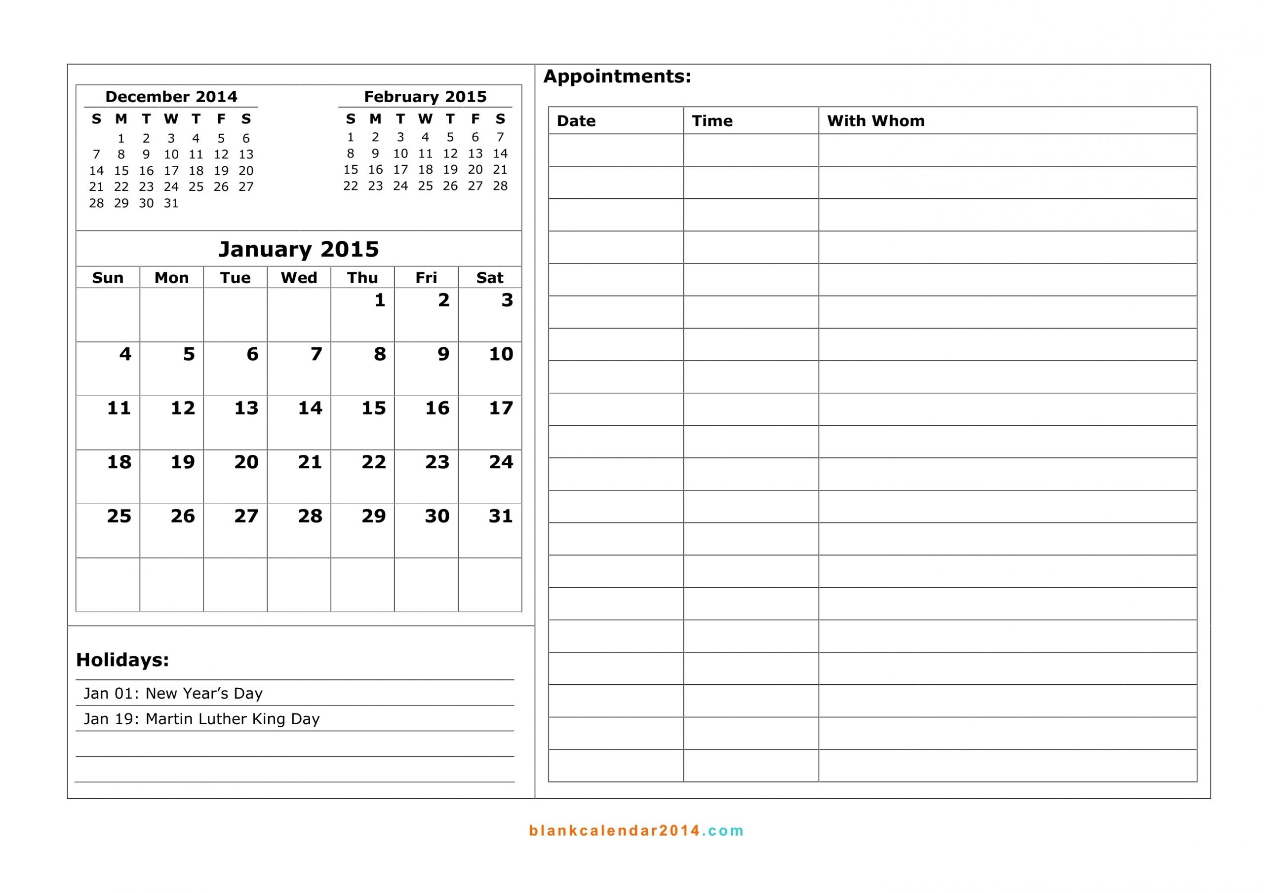 Printable Weekly Calendar With 15 Minute Time Slots