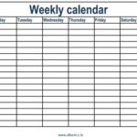 Printable Calendar Weekly With Times