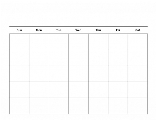 Printable Workout Calendar | Monthly Calendar Template, Free