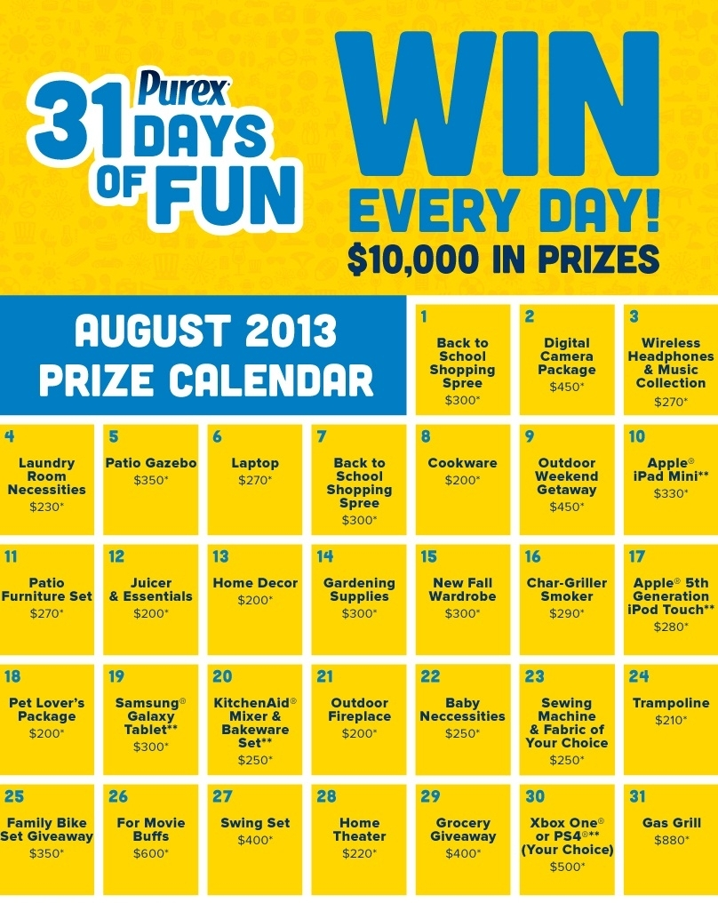 Purex 31 Days Of Fun Sweepstakes Has Begun! + $10 Amazon