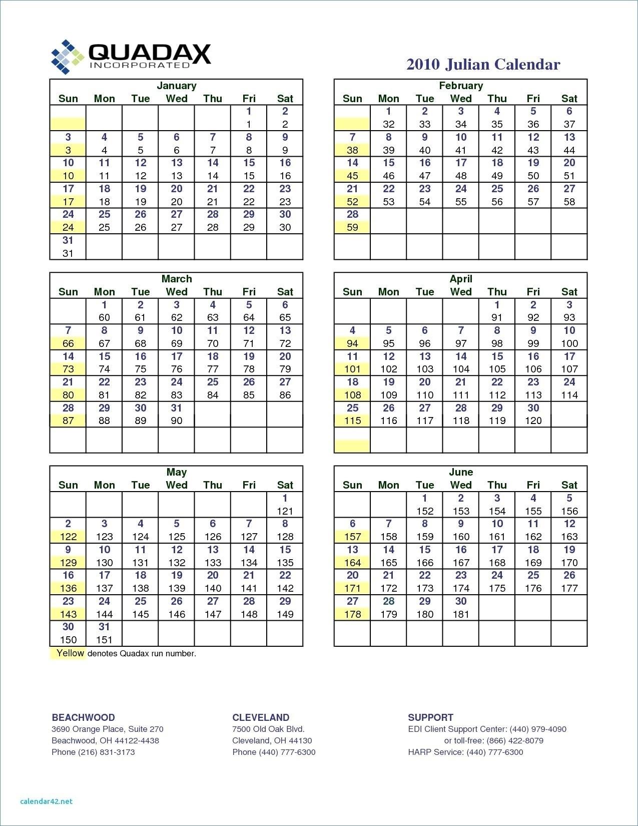 Quadax Julian Calendar 2020 Pdf | Free Printable Calendar