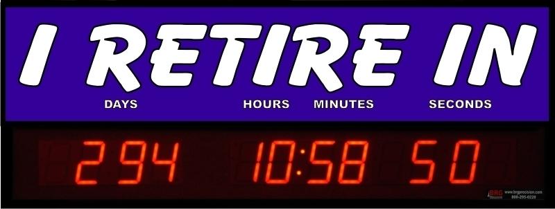 Retirement Clock Countdown | Free Holiday Calendar