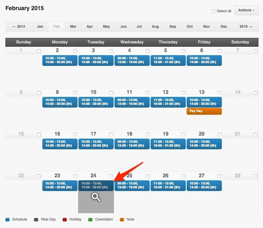 Schedule An Employee's Paid Or Unpaid Day Off
